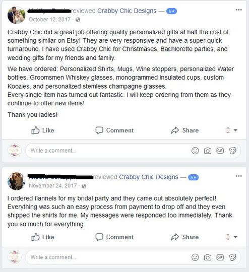 5 Star Facebook Reviews!