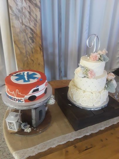 Groom and Brides Cake