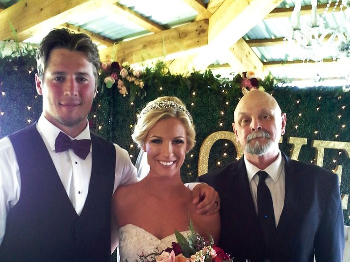 Tmx 1471450379064 Henry With Natalie And Jt Carnegie wedding officiant