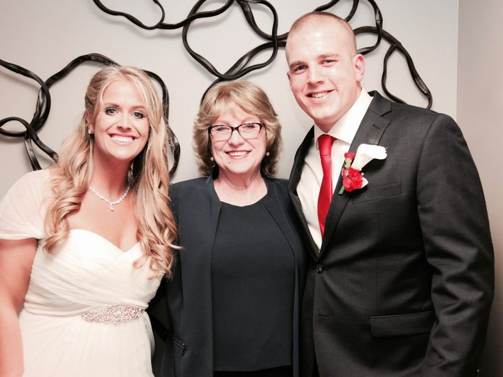 Tmx 1480441493890 Mary And Matt Myers With Marguerite Carnegie wedding officiant