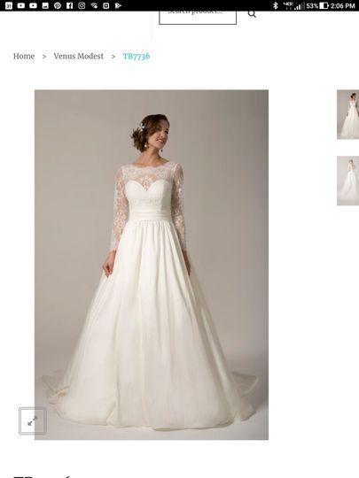 The Perfect Fit Bridal Dress Attire Marengo Il Weddingwire