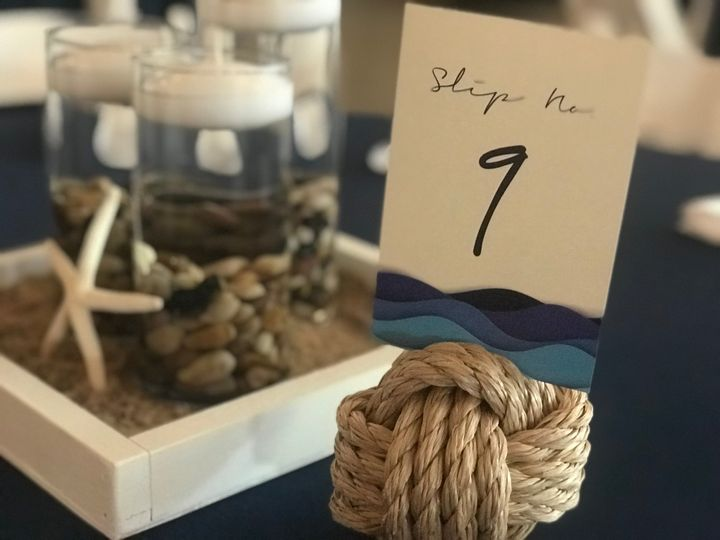 Monkey Knot Table Number