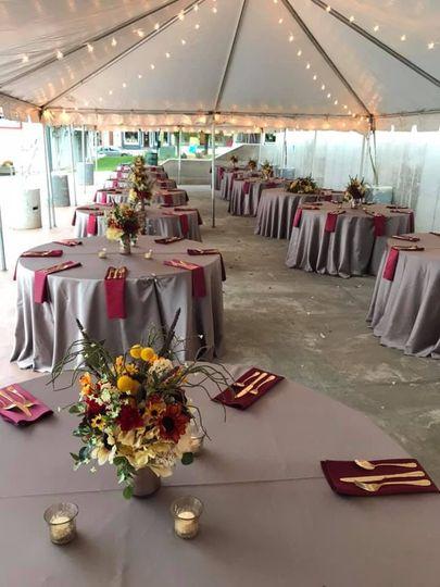 Fall Tent Wedding