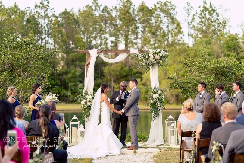 Ceremony at the pond