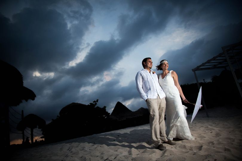 Couple after wedding ceremony
