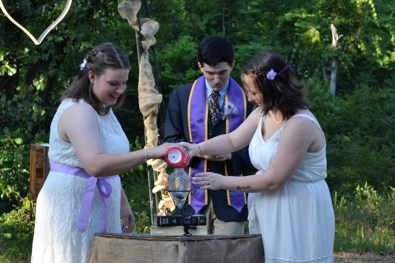 Handfasting was added as well