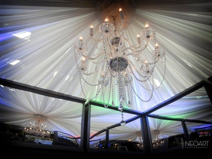 chandelier with twinkle draping