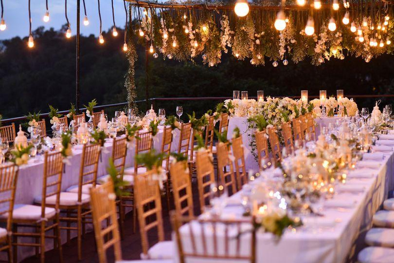 Wedding Chairs and Table Setup