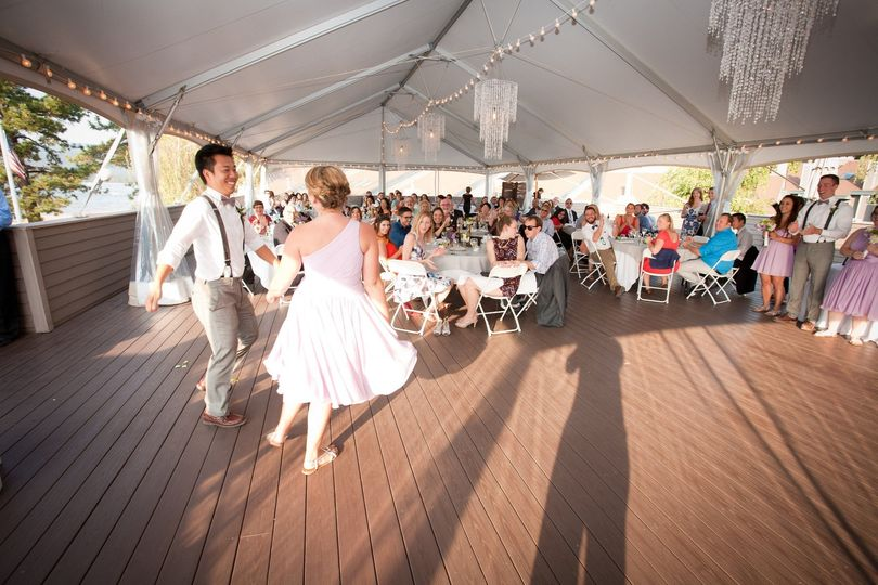 Dancing in the pavilion