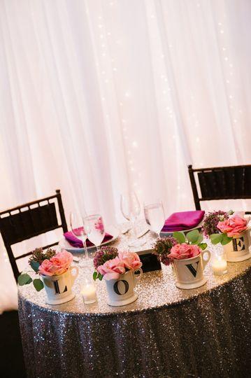 Silver table setup