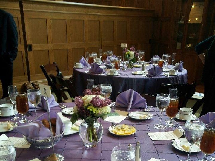Tmx 1374091194158 Purple Tablesetting For Facebook Charlottesville, VA wedding rental