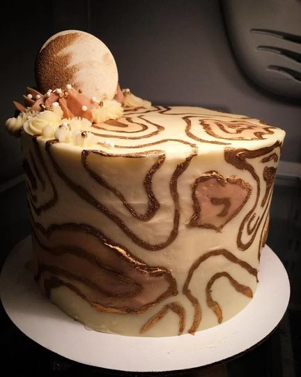 Marble champagne cake