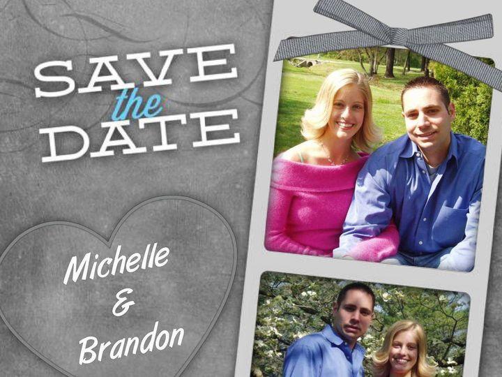 Tmx 1428157055653 Pixingo Wedding Save The Date Michelle And Brandon Newark wedding invitation
