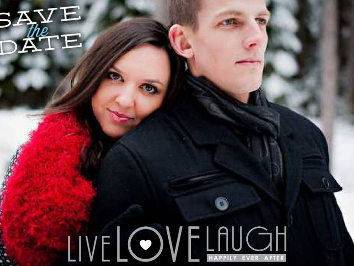 Tmx 1428157063890 Pixingo Wedding Save The Date Live Love Laugh Card Newark wedding invitation