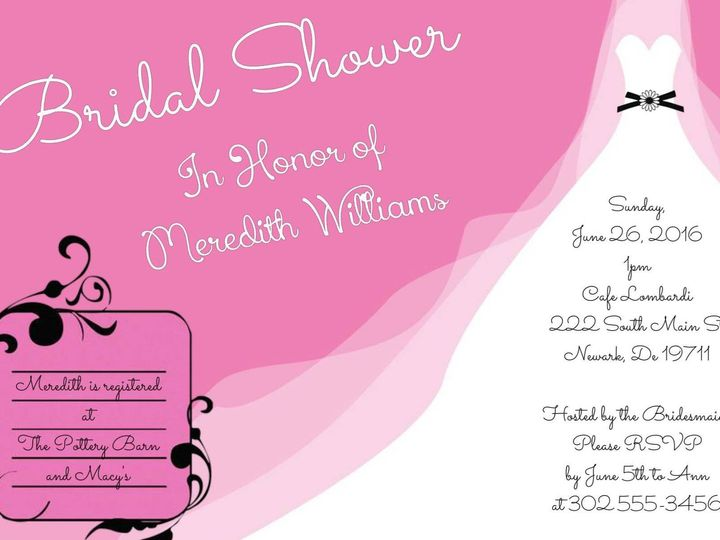 Tmx 1428157073106 Pixingo Wedding Shower Invitation Newark wedding invitation