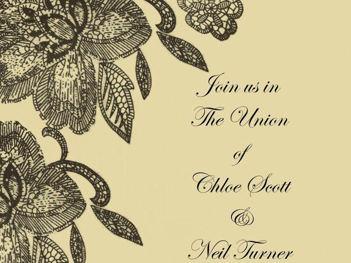 Tmx 1428157077725 Pixingo Wedding Invitation Beige With Blk Flowers Newark wedding invitation