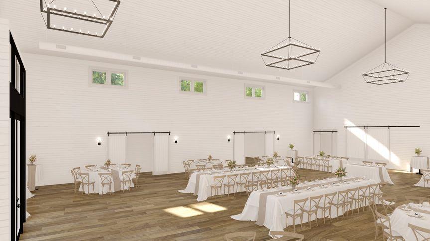 Minimalist and modern wedding barn