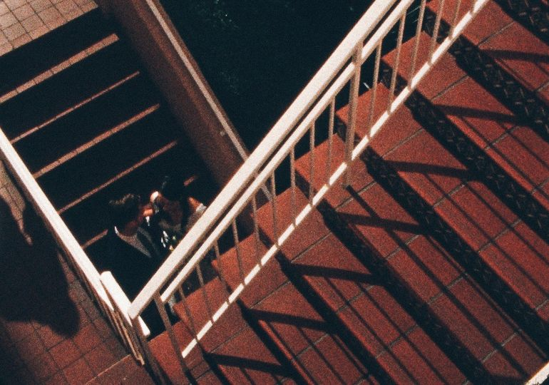 on the stairs131