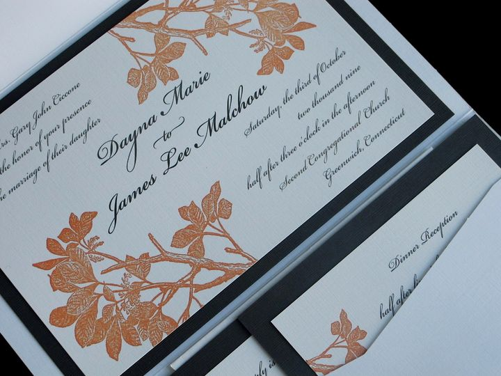 Tmx 1455666702110 Image Greenwich wedding invitation