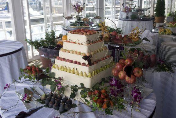 Wedding cake and fruits