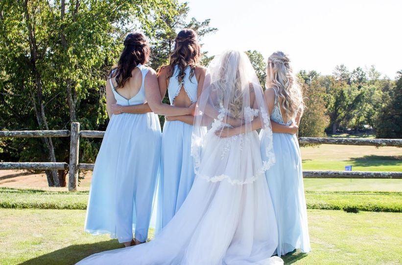 Hair bridesmaids