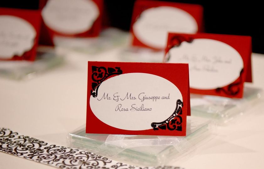 Hand-made escort cards