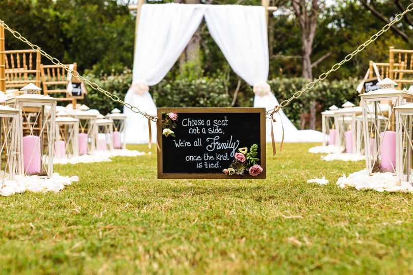 Couple ceremony area