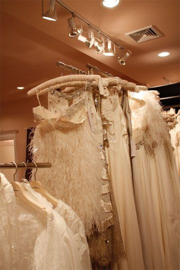Array of bridal dresses
