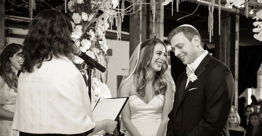 Laughing under the chuppah
