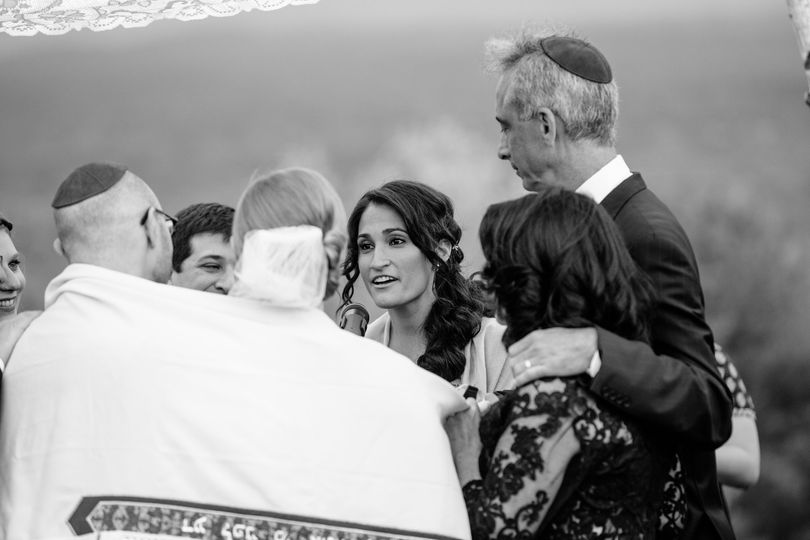 Blessing the couple