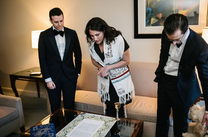 Ketubah and Couple