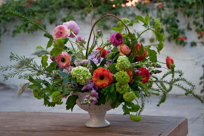 Whimsical arrangement for placecard table.