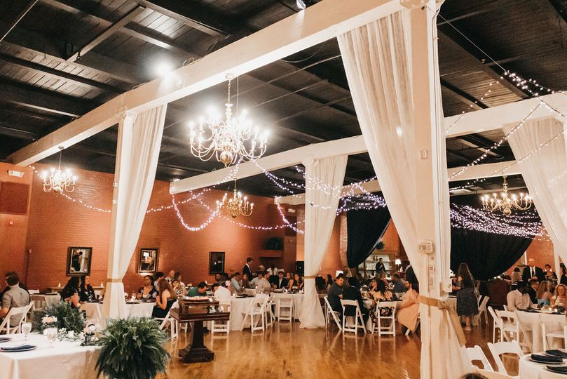 Ballroom reception set-up