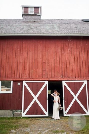 By the barn entrance