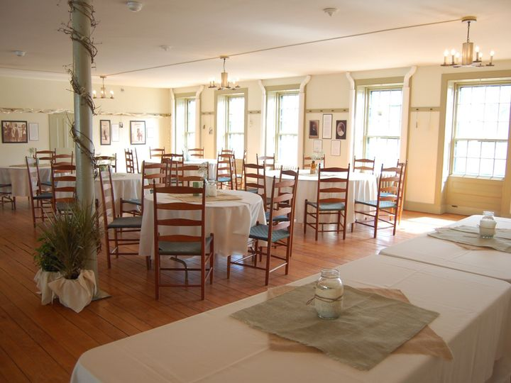 Tmx 1455294102685 Burlap And Plants In Meeting Room Great Stone Dwel Enfield, New Hampshire wedding venue