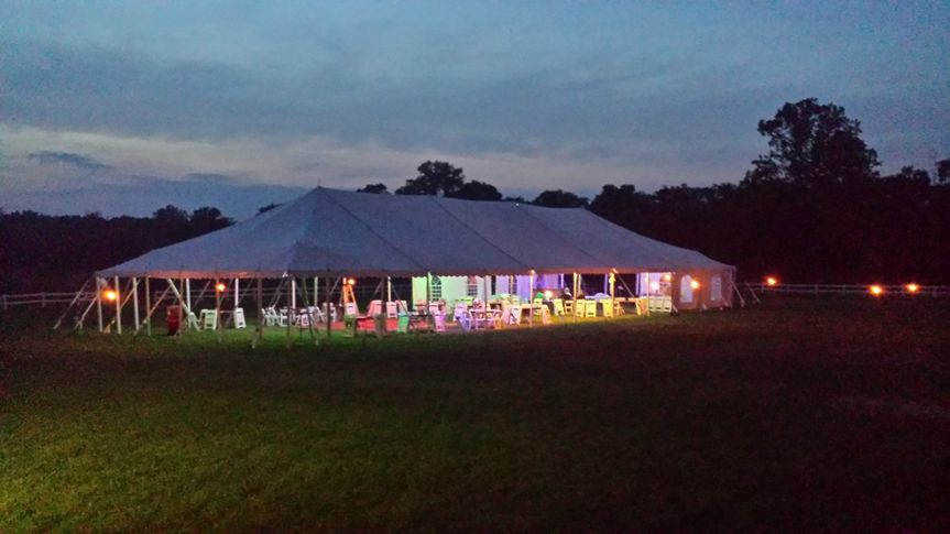 Brookdale Farms tented reception