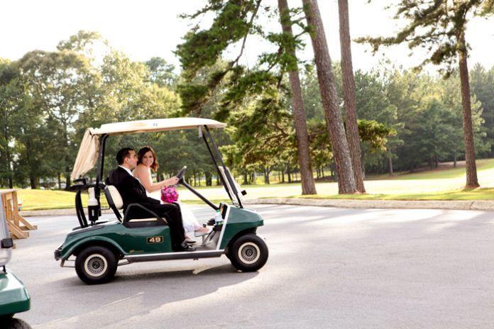 Cruising around the course