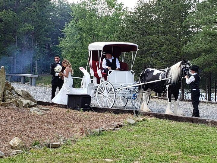 Tmx Bride And Groom Off Carriage 51 1535227 1566166895 Walnut Cove, NC wedding transportation