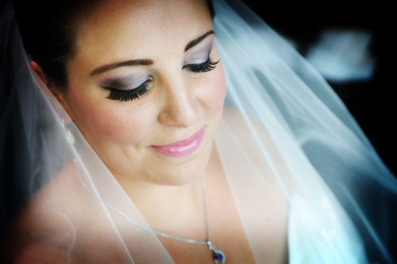 Dramatic bridal makeup, Harborside Hyatt Hotel Boston, MA Photo Gaby Benoit