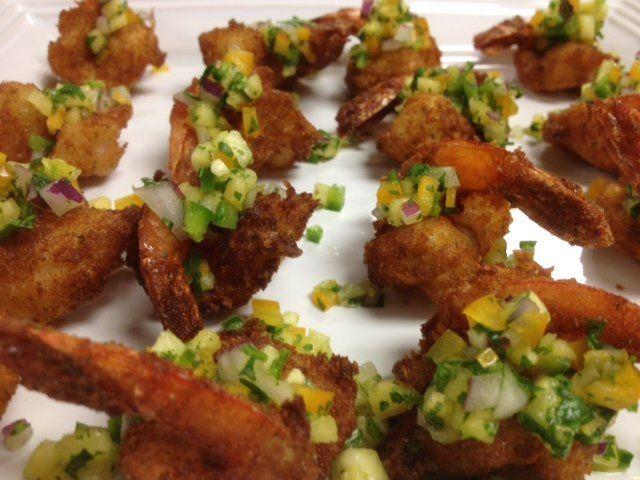 Coconut Shrimp and Pineapple Salsa