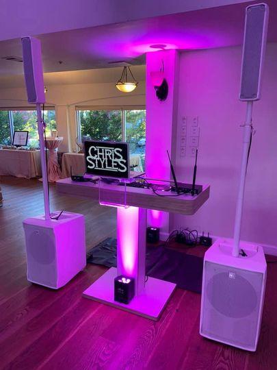 All White DJ Set Up