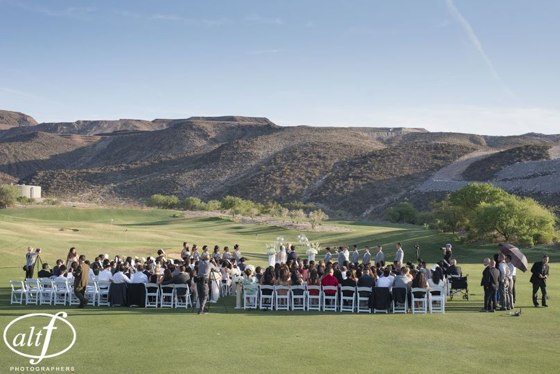 Wedding ceremony - driving range
