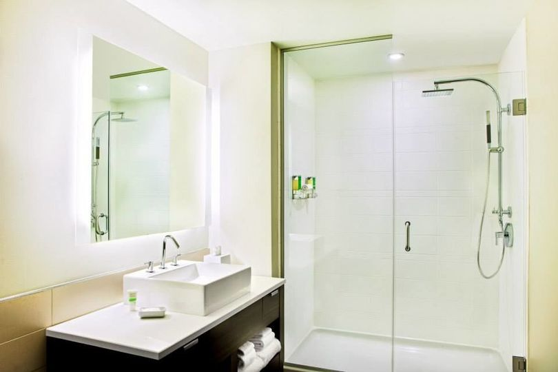 Spa-Inspired Bathroom with Rainfall Shower Head