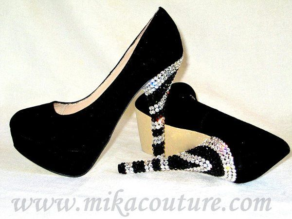 Crystalized Suede Pumps $180