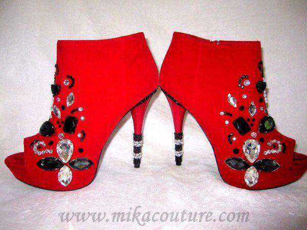 Red Velvet Booties $225