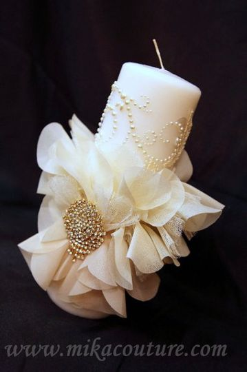 Bride Candle/ Comes with Groom Set