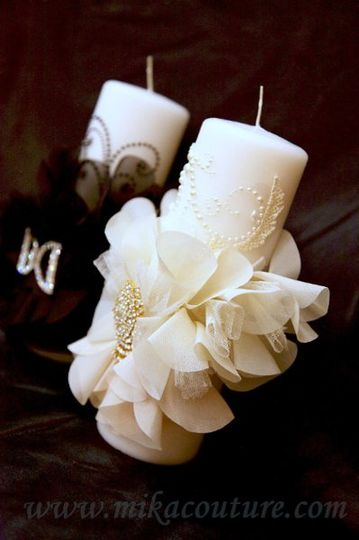 Bride and Groom Candle Set $120.00