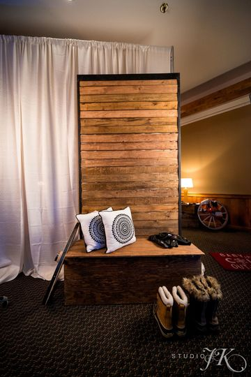Wood wall perfect for personal touches