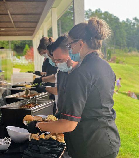 Staff-Served Buffet