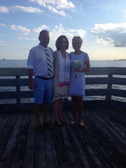Beachside Connecticut wedding
